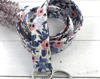 Rifle Paper Co Rosa Lanyard | Popular Right Now| Badge ID Holder | Name Tag Lanyard | Key Lanyard | Lanyard for Keys | Floral Key Holder