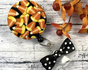 Candy Corn Badge Reel, Fall Badge Reel, RN Badge Reel, Cute Badge Reel, Nurse Badge Reel, Nurse Graduation Gift, Popular Right Now, RN Gifts