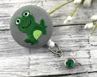Cute Badge Reel, Frog, RN Badge Reel, Cute Badge Holder, Nurse Badge Reel, Medical Student Gift, Popular Right Now, Frog Gifts, Cheer up Box