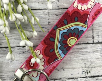 Amy Butler Key Fob French Wallpaper