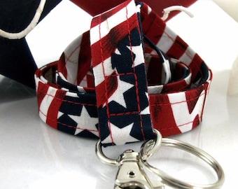 Patriotic Fabric Lanyard for Badges
