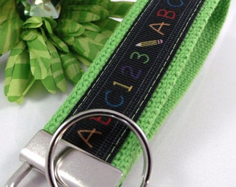 College Graduation Gift for her Handmade Keychain in Amy Butler Fabric End of Year Teacher gift