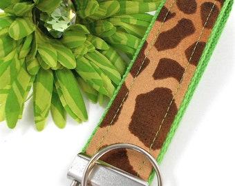 Giraffe Animal Print Keychain