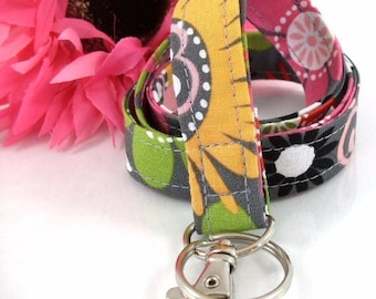 Fabric Lanyard in Funky Retro Floral