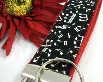 Music Wristlet Keychain, Popular Right Now, Piano Teacher Gift, Music Teacher, Music Gifts, Music Print, Teacher Appreciation Gift