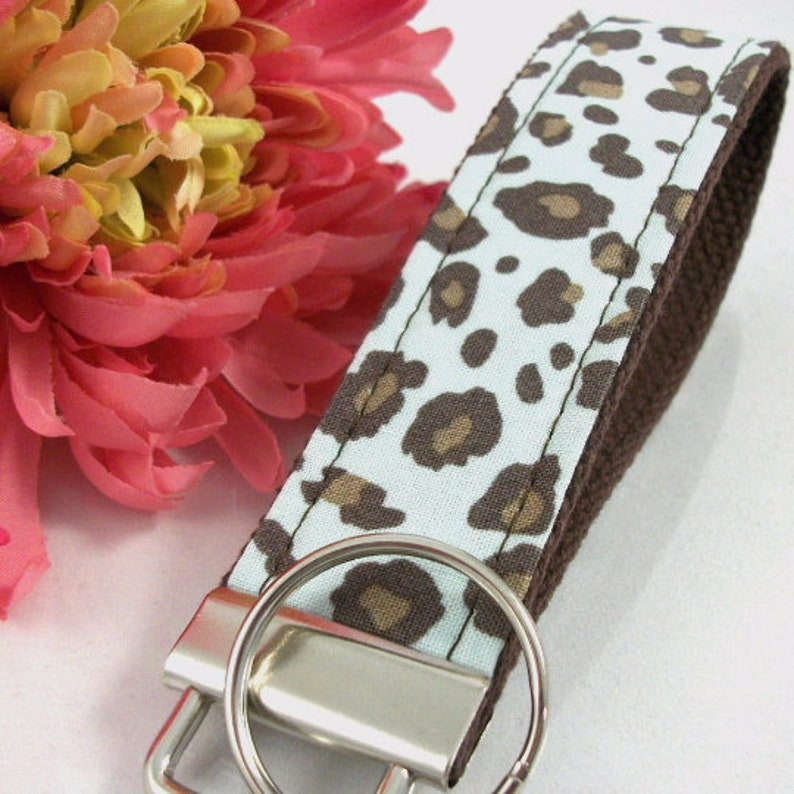 Handmade Cheetah Keychain College Graduation Gift for her I image 1