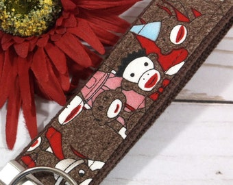 Sock Monkey Keychain Perfect New Mom Gift