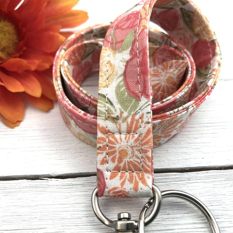 Lanyard Necklace  Fabric Lanyard  Badge ID Holder  Name Tag image 1