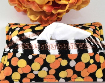 Fall Halloween Travel Tissue Holders - Fabric Tissue Pouch Makes Ideal Small Gift for Her, Halloween Party favors