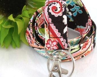 Floral Lanyard ID Badge Holder