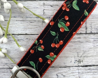 Cherries Wristlet Keychain, Popular Right Now, Moving Away Gift, Trending Now, Thinking of You Gift, Librarian Gifts, Teacher Gifts, Cherry