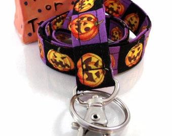 Jack o Lanterns Key Keeper Lanyard