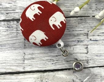 Cute Badge Reel, Elephant Badge Reel, Nurse Badge Reel, Veterinarian gift, Cheer up Gift, Pediatric Badge Reel, RN Badge Reel, Nurse Gift