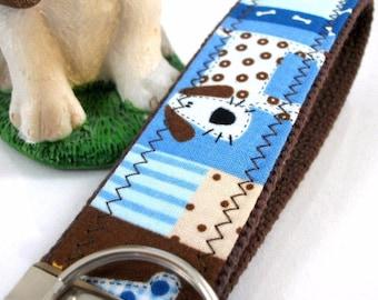 Cute Dog Mom Keychain, Dog Fabric Wristlet Keychain, Best Friend Gifts Long Distance, Preschool Teacher Gifts