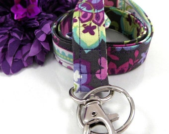 Purple Paisley Lanyard