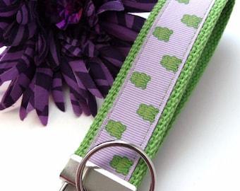 Lavender Frog Keychain Wristlet