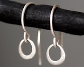 Tiny Ring Earrings in Sterling Silver