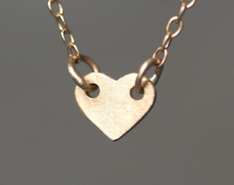 Baby Heart Necklace in 14K Gold