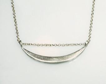 Sideway Crescent Moon Necklace