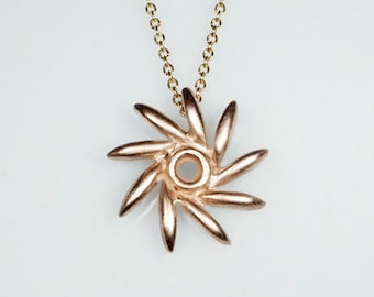 Seed Pinwheel Necklace