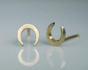 Mini Horseshoe Stud Earrings