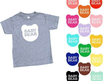 Baby Bear TriBlend Heather Grey TShirt - Kids Toddler Kids Babies Infant, Family Photos, Expecting, Little Bear, Birthday Gift, Mommy and Me