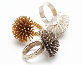 Cocktail Rings. Statement Rings. Big Rings. Big Gold Ring. Gold Rings. Silver Rings. Big and Bold Rings. Unique Silver Rings. Spike Rings.
