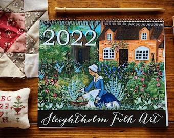 2022 Sleightholm Folk Art Calendar