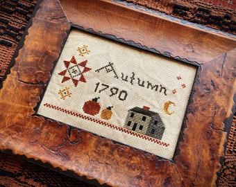 Autumn 1790 Cross Stitch PDF Pattern