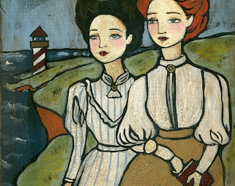 PRINT Anne and Diana, Anne of Green Gables
