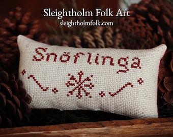 CROSS STITCH PDF Snoflinga Swedish Snowflake pattern primitive stitching