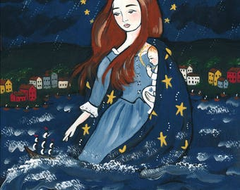 PRINT Stella Maris star of the sea 8x10 Mary