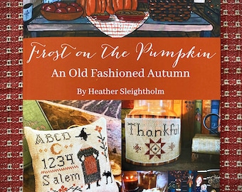 Pattern Booklet Frost on the Pumpkin autumn stitching pattern book