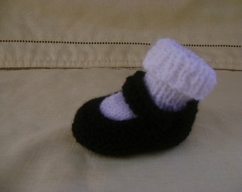 FAST Pattern for Mary janes with socks or without socks / Instant Download
