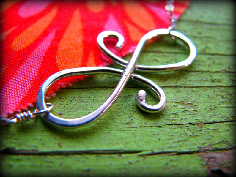 Infinity Swirl Friendship Necklace  Symbol Sterling Silver  image 0