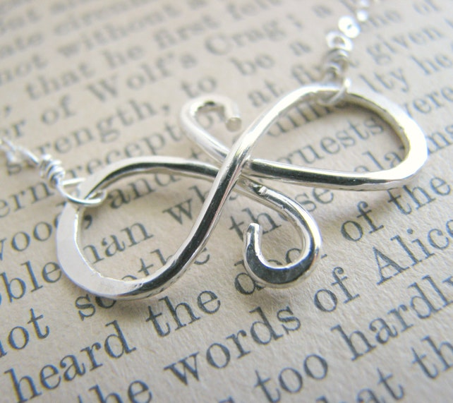Infinity Symbol Necklace Sterling Silver Gift Best Friends Etsy