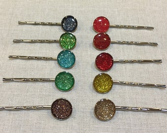 Circle Bobby Pin Pair