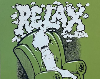 Relax limited edition screenprint