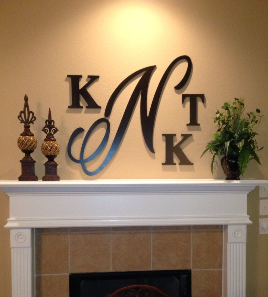 Large 28 Inch Wooden Monogram Hand Painted Wooden Letters