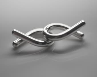 Looped - Gauge Simple Sleeper Loop Earrings in Sterling Silver for Stretched Ears 8g 3mm