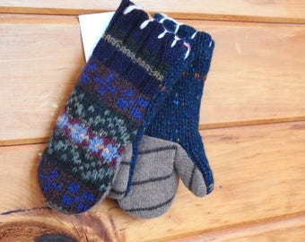 Children's Upcycled Sweater Mittens