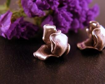 Hill Tribe Fine Silver Rose cones bead caps 12mm