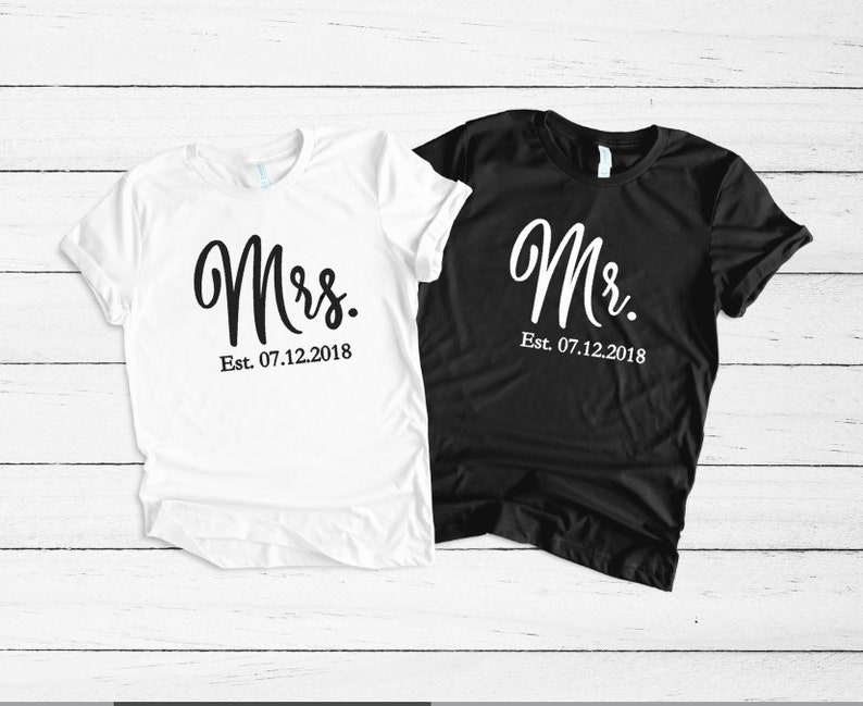 cb1a42ad Mr and Mrs Mr and Mrs shirts Honeymoon Shirts Mrs and Mr | Etsy
