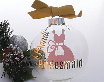 Will You Be My Bridesmaid Gift Ornament | Will You Be My Maid of Honor Gift | Bridal Party Gift | Bridesmaid Proposal | Bridesmaid Christmas