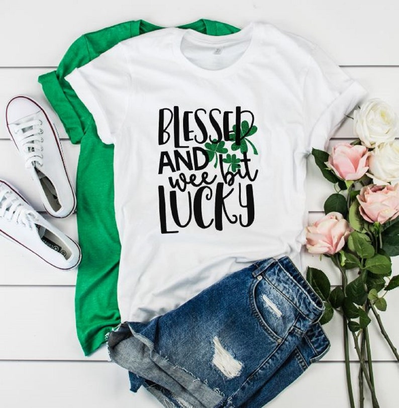 Patricks Day Plaid Lucky Mama Shamrock T Shirt Women Casual O Neck Cute Graphic Tops Tee St