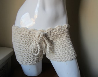 crochet shorts,  summer short,bikini cover,  beach cover up,  shorts, festival clothing, gypsy, boho,