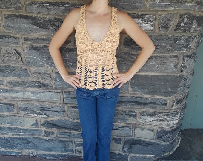 GAIA Tank TOP, Crochet Camisole top, Crochet bralette top, Boho top, festival clothing, tank top, crochet tank top, gypsy, summer top, NEW!