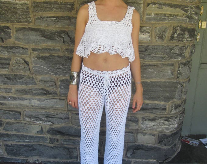 WHITE CROP TOP, festival clothing, crochet top, off shoulder top, beachcover up, off shoulder crochet top, gypsy offshoulder top