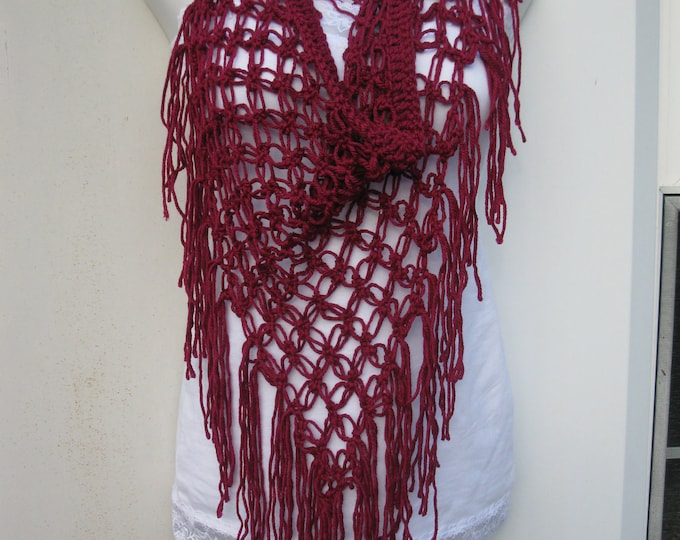 Sarong scarf, beach cover up Berry or Magenta gypsy clothing, festival wear, boho chic