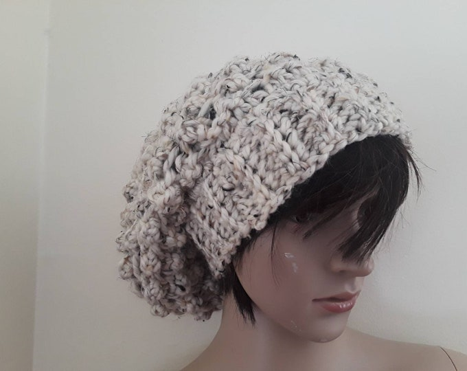 Women's knit hat/beanie for women/hand knitted hat/warm wool hat/winter beanie/slouchy knit wool hat/crochet winter beanie/girl accessories